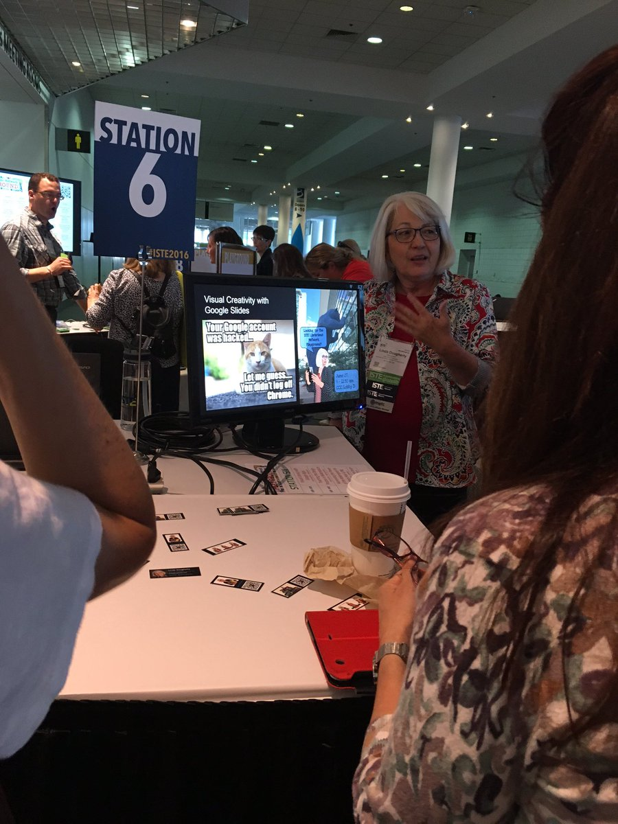 Virtual literacy with Google is happening NOW with @ljdougherty at the #istelib playground #ISTE2016 https://t.co/VF0avMLhLe