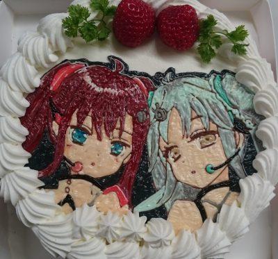 イラストケーキ  「ひなビタ」ここなつ