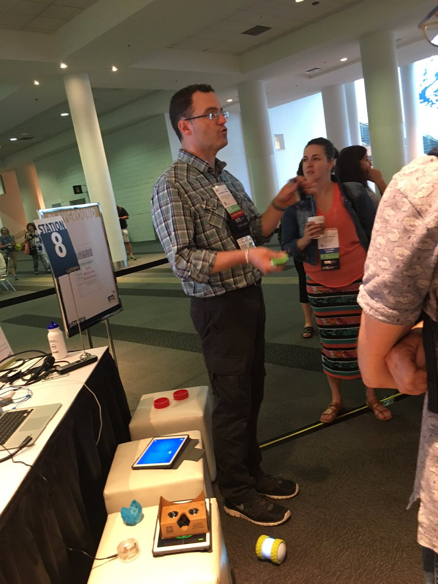 Our #istelib President-elect @MaineSchoolTech talking about using robots in the library at the playground in lobby D https://t.co/SncP5z0JW0