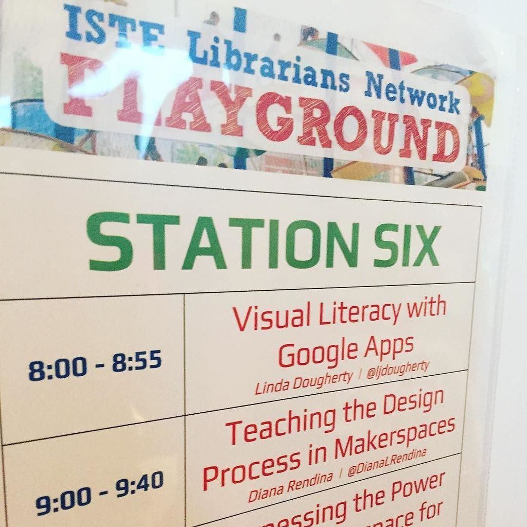 Starting in five minutes! Come learn about design challenges in the pkayground #Iste2016 https://t.co/JpyA50zsAE https://t.co/gdEVdfasa1