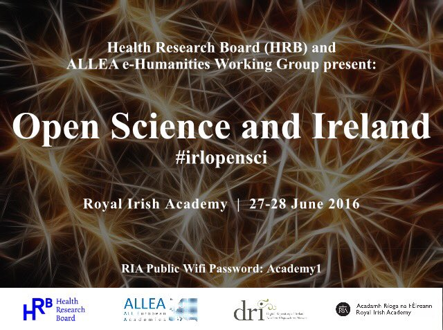 Spaces avail day 2: #openscience by HRB & @dri_ireland at @RIAdawson 28 June. https://t.co/PghrzcGECR #IrlOpenSci https://t.co/KO6ntUYtaf
