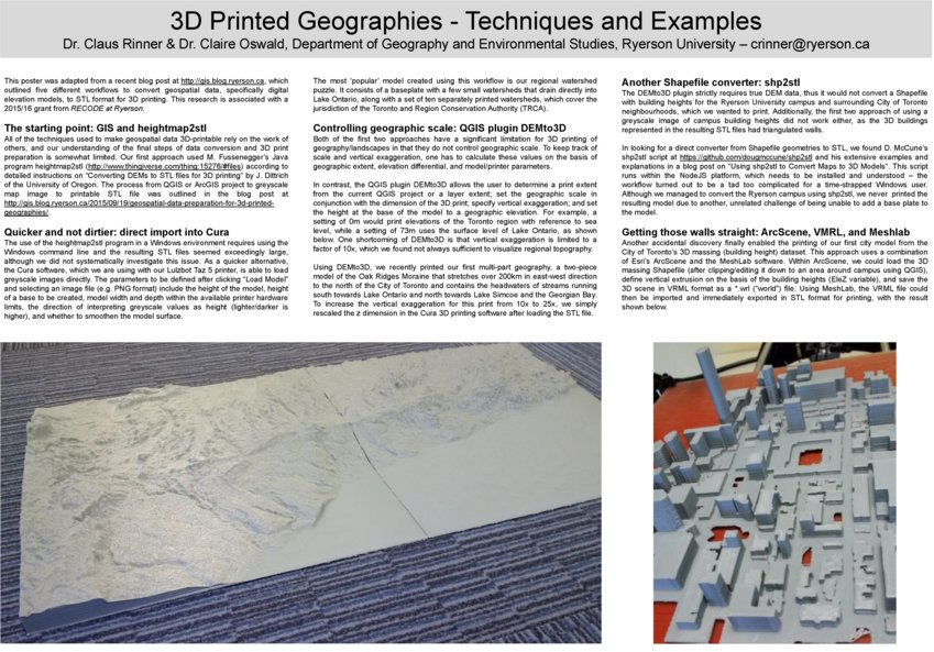 Thumbnail for 3D-Printed Geographies - One Year In