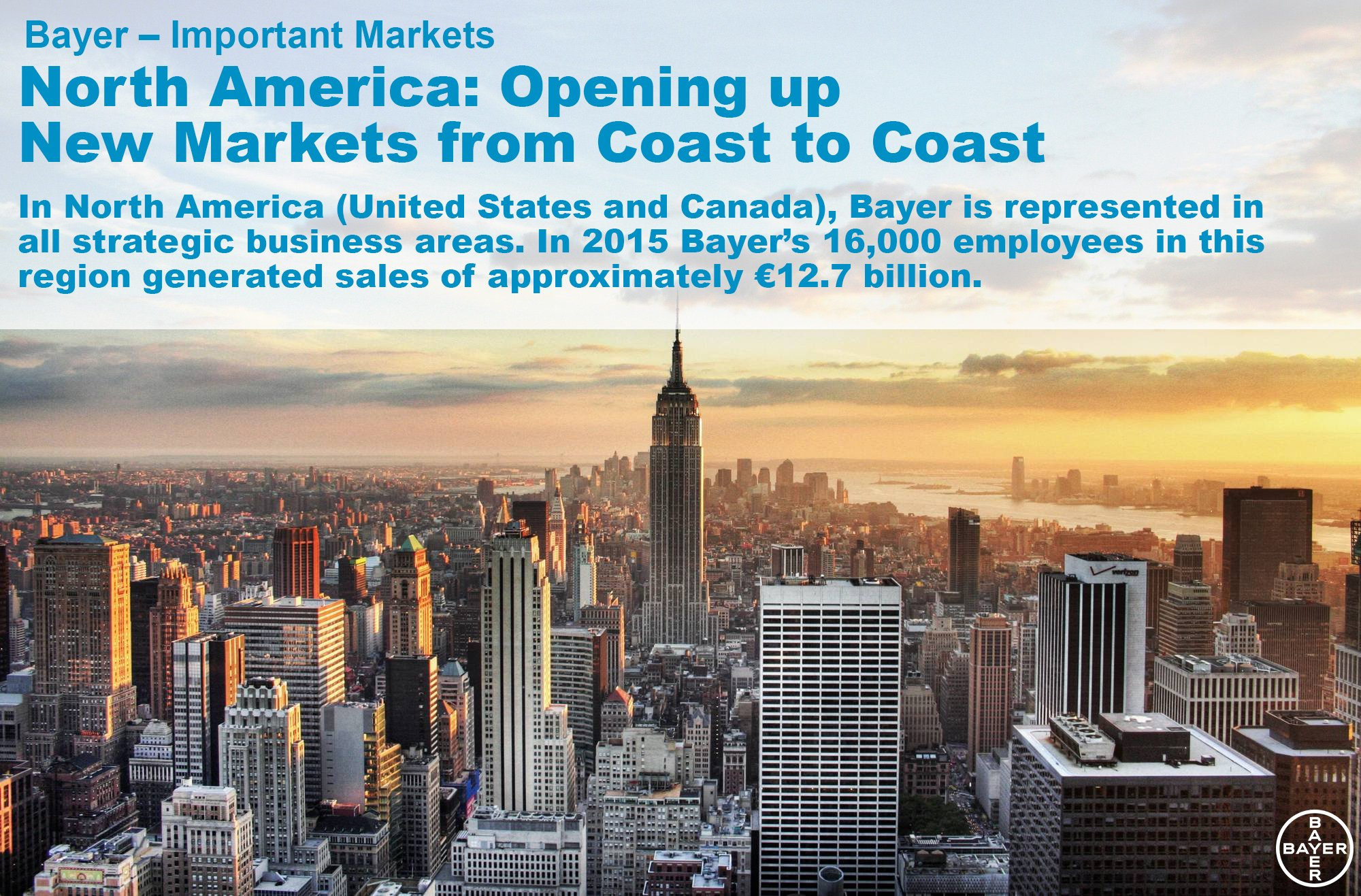 """Bayer AG on Twitter: """"Bayer – #ImportantMarkets North #America: Opening up # New Markets from Coast to Coast https://t.co/LBw3tGRwlS https://t.co/WHEKNUpDNA"""""""