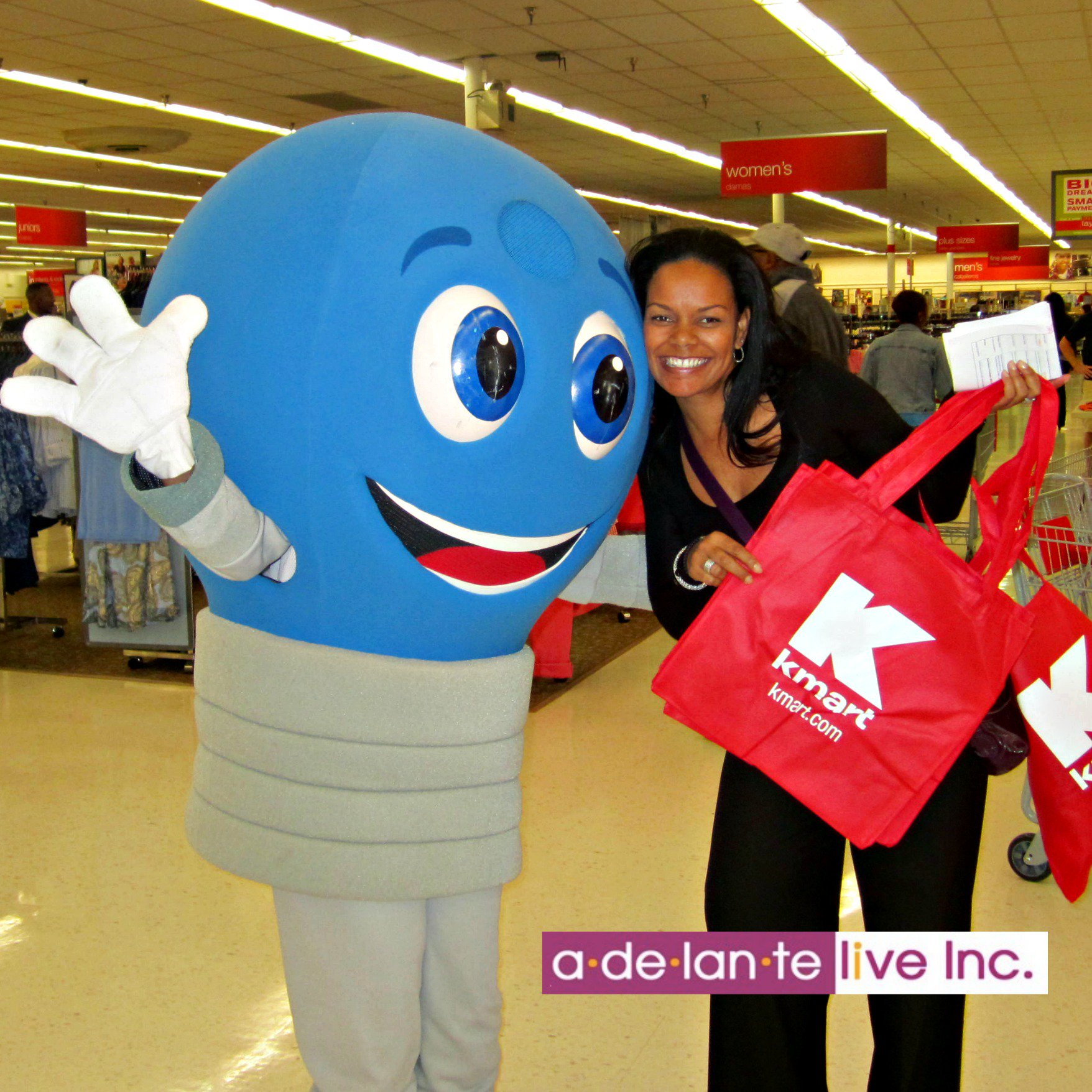 Adelante Live Promos On Twitter We Could All Use A Friendly Face On Humpday Waybackwednesday Mrbluelight Mascot Smile Promomodels Kmart Fun