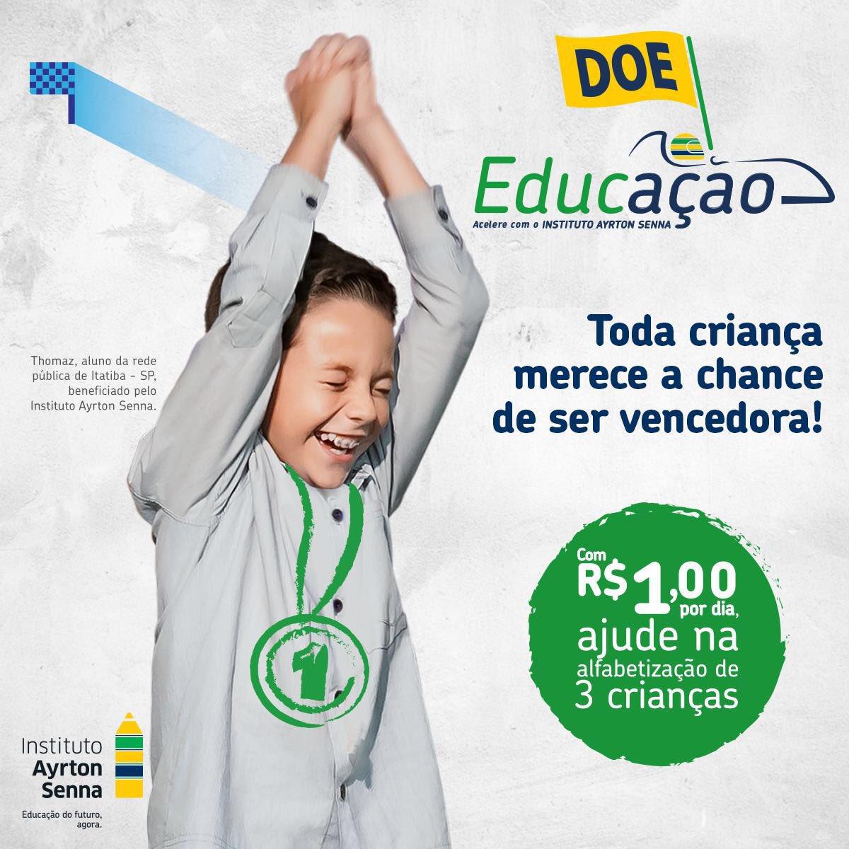 Eu apoio o Instituto Ayrton Senna, apoie você também #DoeEducação. Participe https://t.co/5PyApubQNZ https://t.co/ST1BTdyST9