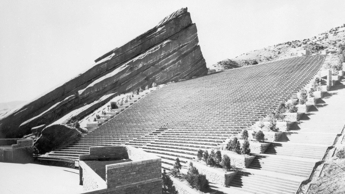 Red Rocks Park And Amphitheatre On Twitter The Theater Was Designed By Burnham Hoyt Modeled After The Theatre Of Dionysus In Athens Greece Redrocks75