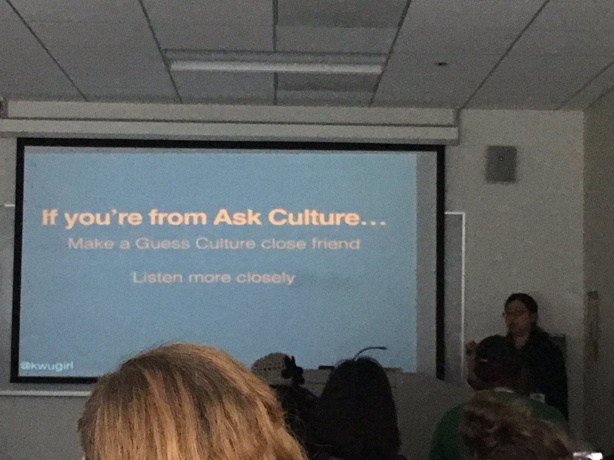 @kwugirl guides us through some ways to better our communication if you're from an ask culture #wsc2016conf https://t.co/uuZkDxTqJx