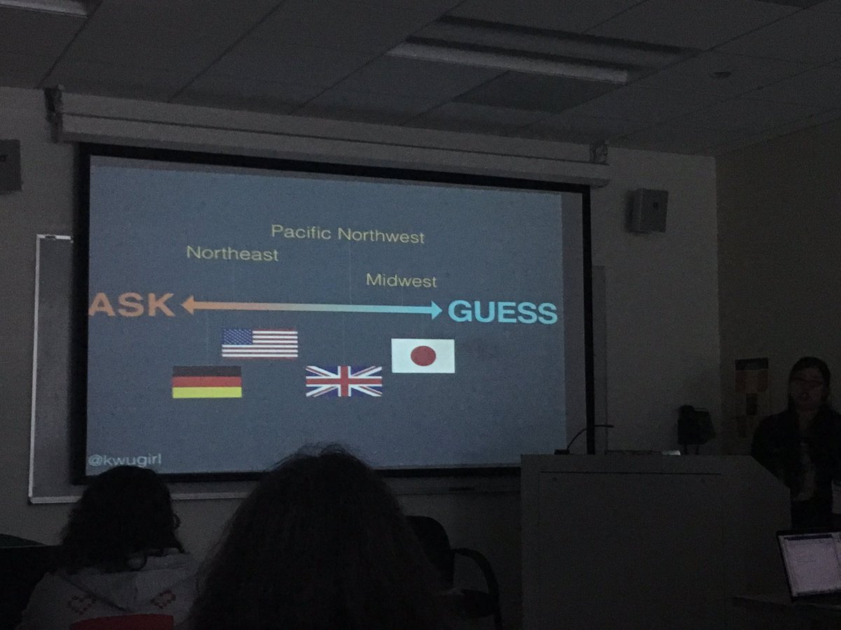 Ask vs Guess culture across the US and the world @kwugirl #wsc2016conf https://t.co/2bB2cOyrkZ