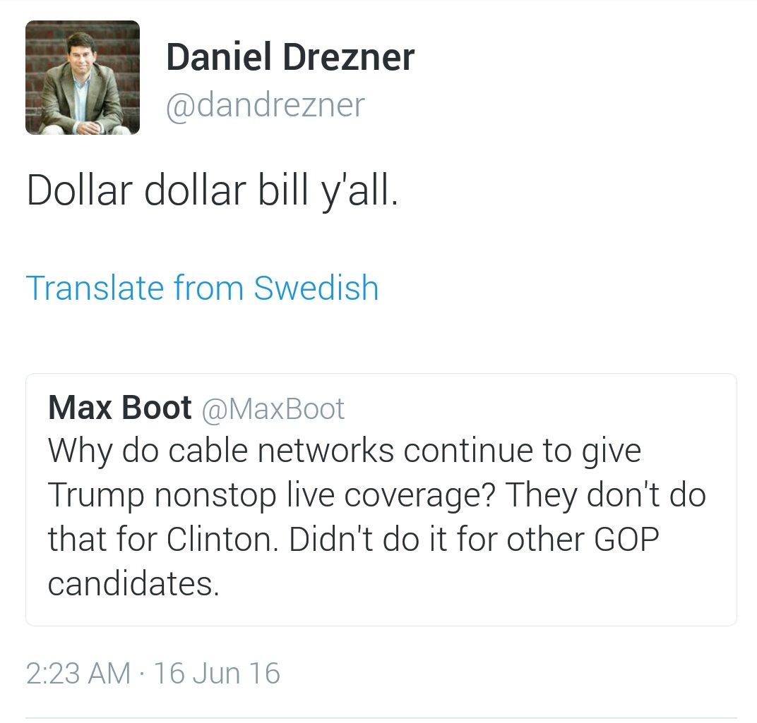 Daniel W Drezner On Twitter Dollar Dollar Bill Yall