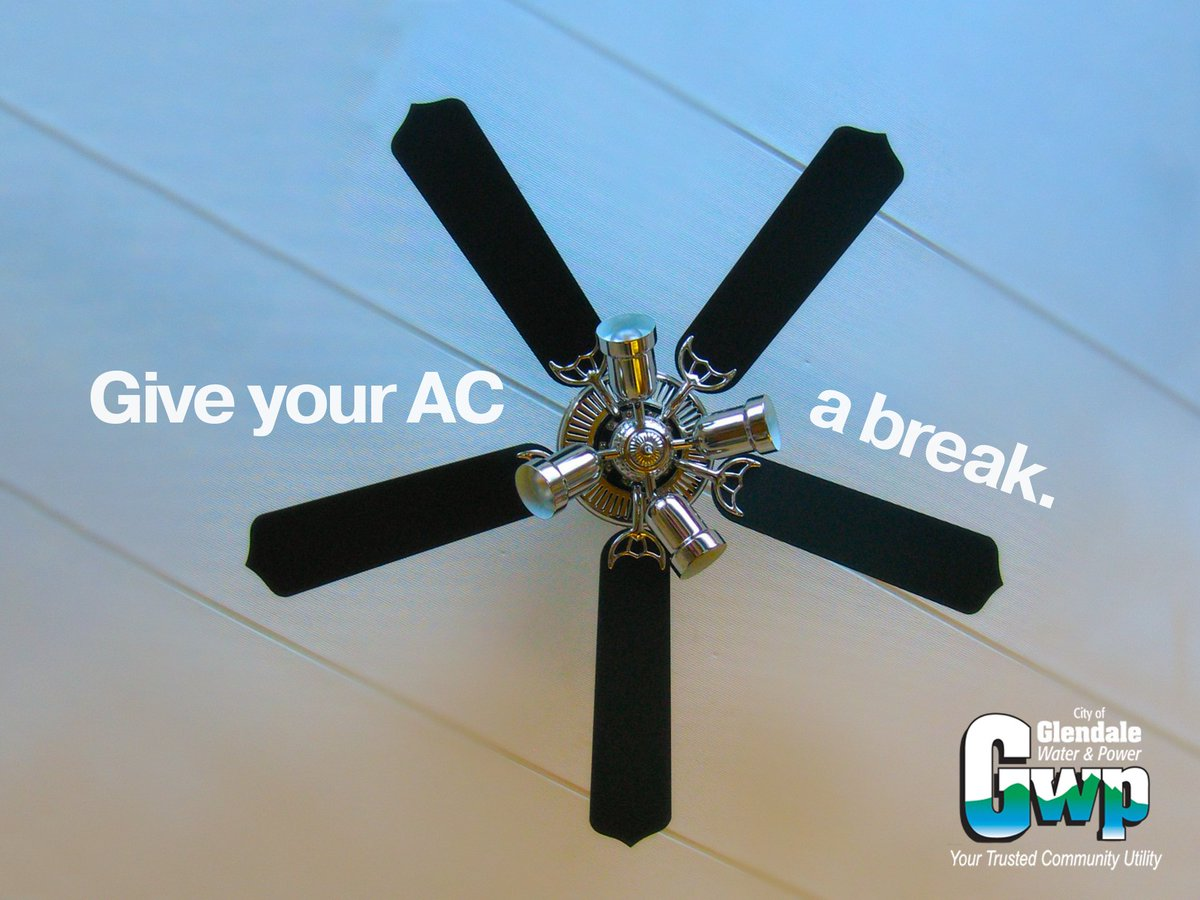Water Powered Ceiling Fan : Glendale water power on twitter quot use a ceiling fan
