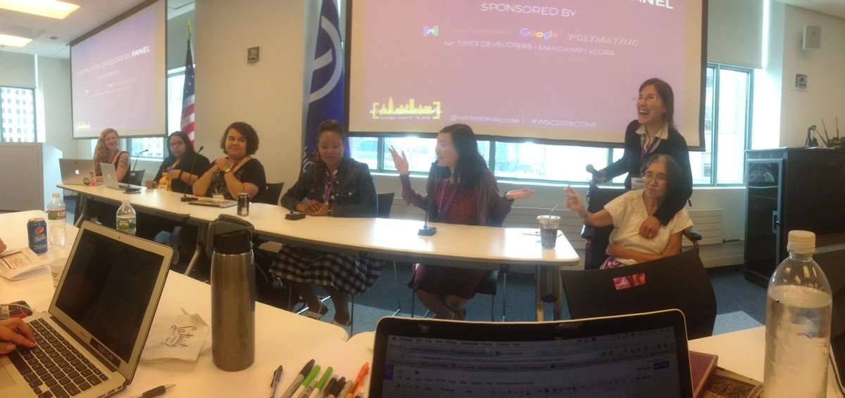 Lively, informative panel at #wsc2016conf on writing. Diverse conference panels: they can be done! #womenintech https://t.co/jxkSKIT0ET