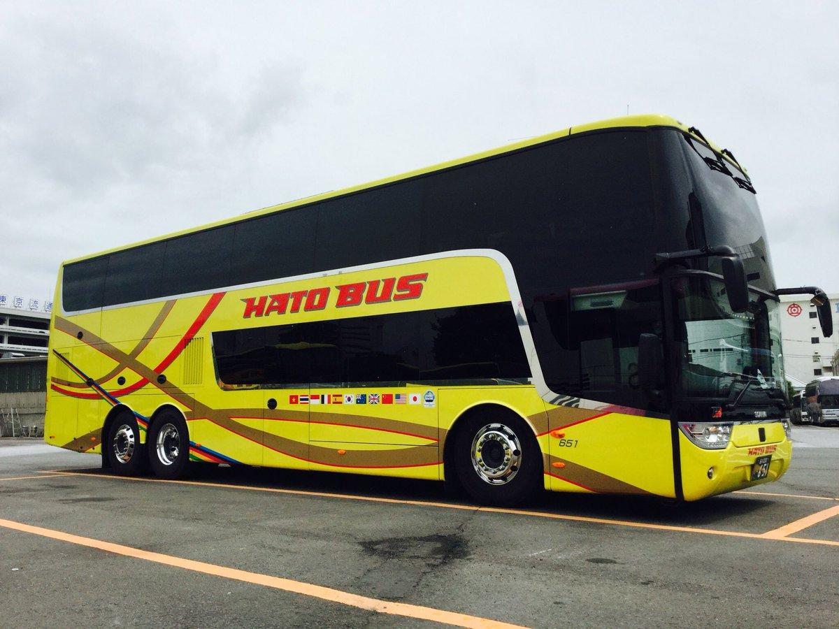 【新型2階建てバスAstromega(アストロメガ情報)】 本日のアストロメガは、平和島にてお休み中◎ 4/25から順調に運行してます♪