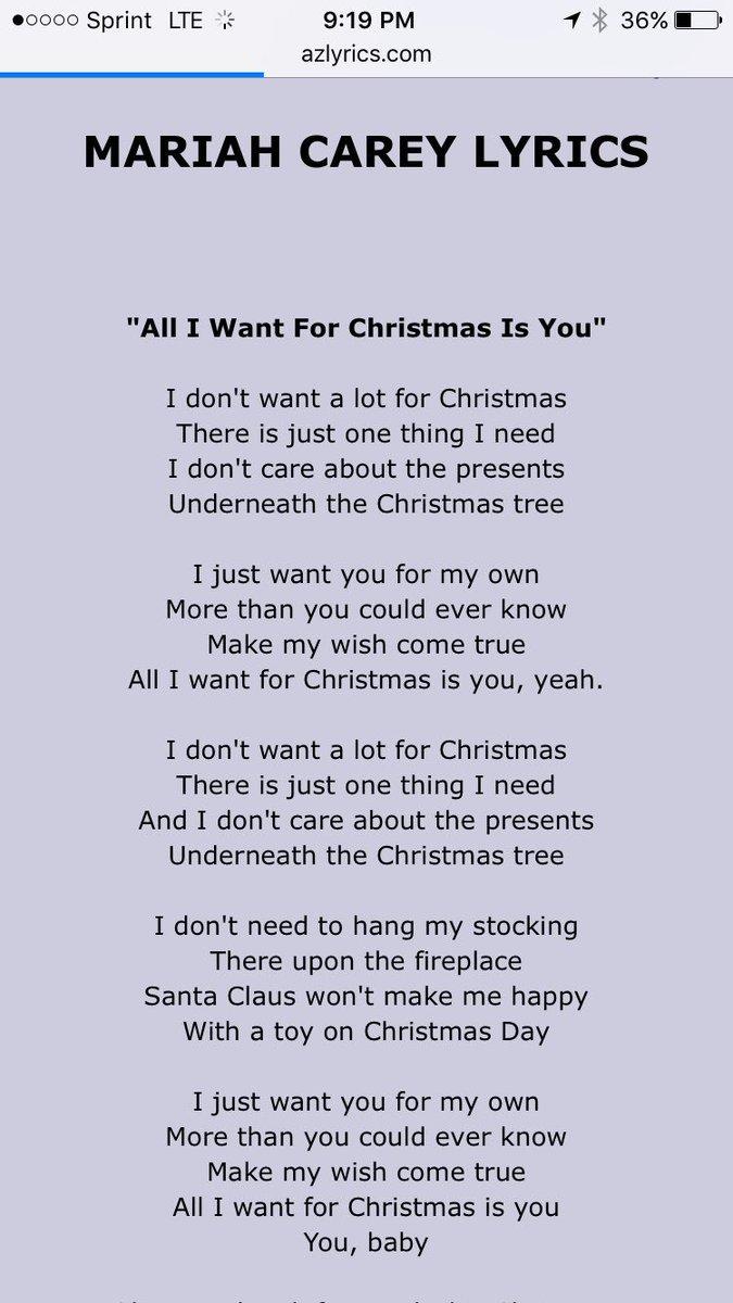 I Dont Want Alot For Christmas Lyrics.Jon J Maratos Twitter