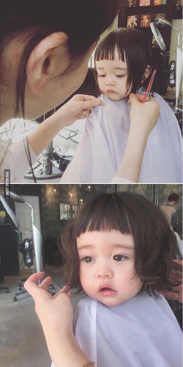 9gag On Twitter Little Girl Getting Her First Haircut Httpst