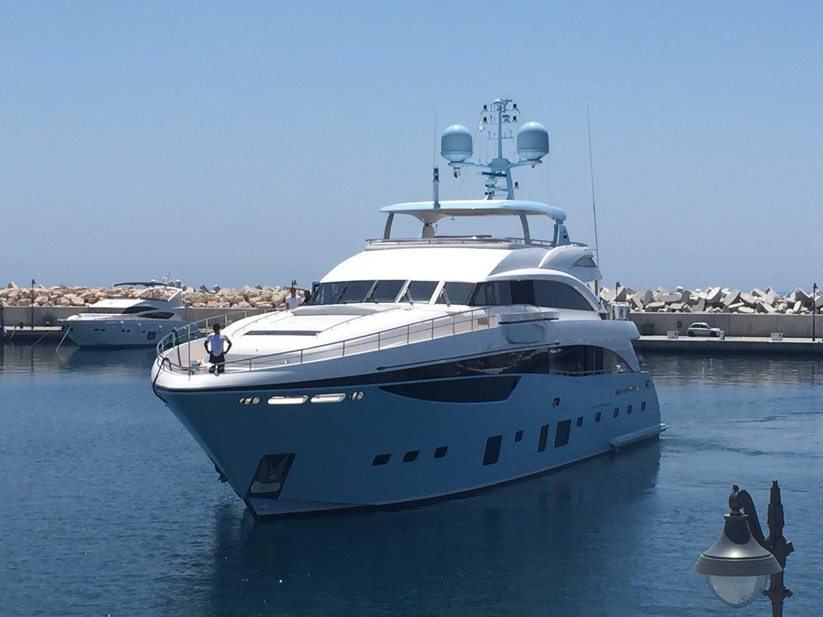 Limassol Marina Ltd On Twitter Stunning In Baby Blue PrincessYachts 40M With Princess Yachts Cyprus At LimassolMarina Tco Pc8gSemLDg