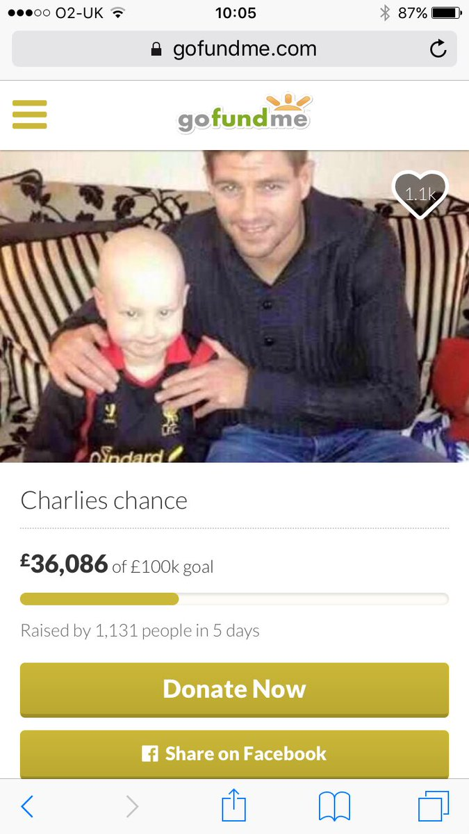 Please help this brave little boy get to the USA for the treatment he needs #charlieschance https://t.co/KhrtmvLR2y https://t.co/Nxy5tTIfpp