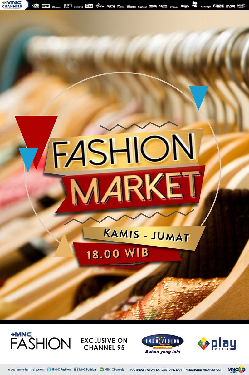 Jgn lewatkan Fashion Market! Kamis-Jumat, 18.00 di @MNCFashion, exclusive on channel 95 @Indovision_TV https://t.co/cW4eHPq8Ym