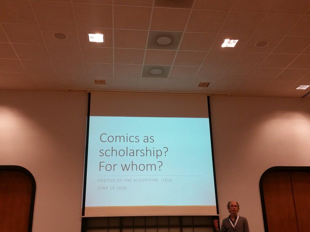 That's @LabarreN presenting @UniversiteLiege on comics *as* scholarship #algopoetics https://t.co/PBqZowkCRI