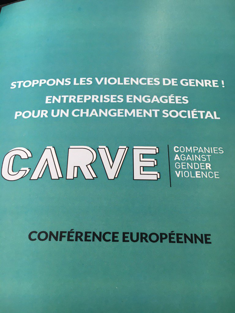 Discussing the role of companies in combating gender-based violence at #CARVEdaphne conference #VAW @EU_Justice https://t.co/hpVUWUjphU