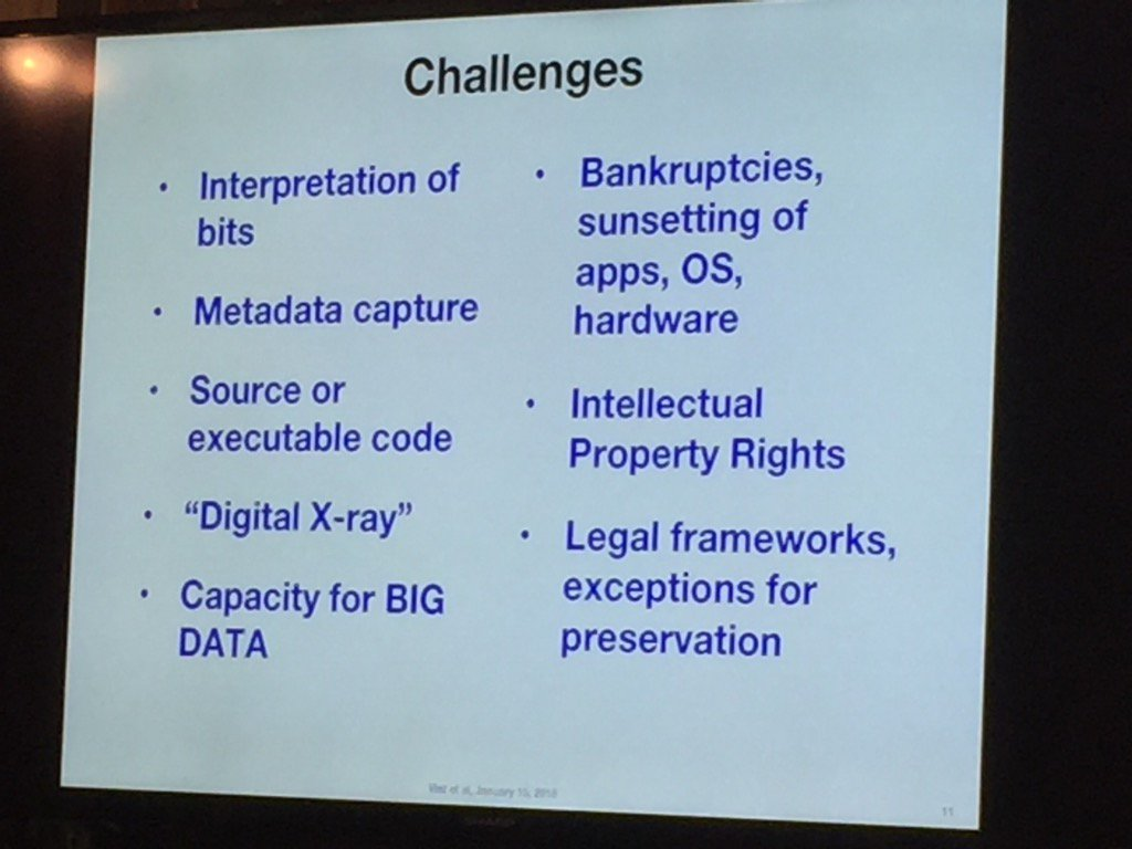 Challenges to preserving the digital world: @vgcerf at #SaveTheWeb https://t.co/5K6ql4LsVo