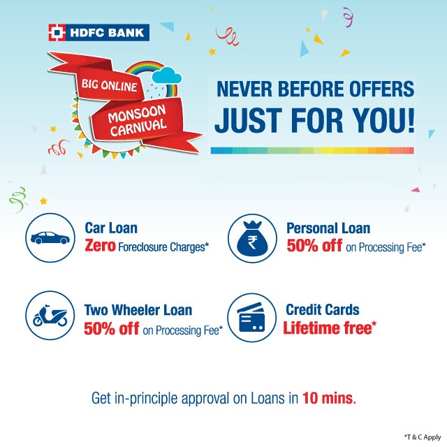 Hdfc Bank On Twitter Save Big On Personal Loan Car Loan Two Wheeler Loan Credit Card And Much More Https T Co Wbktbsvpwa Bomc