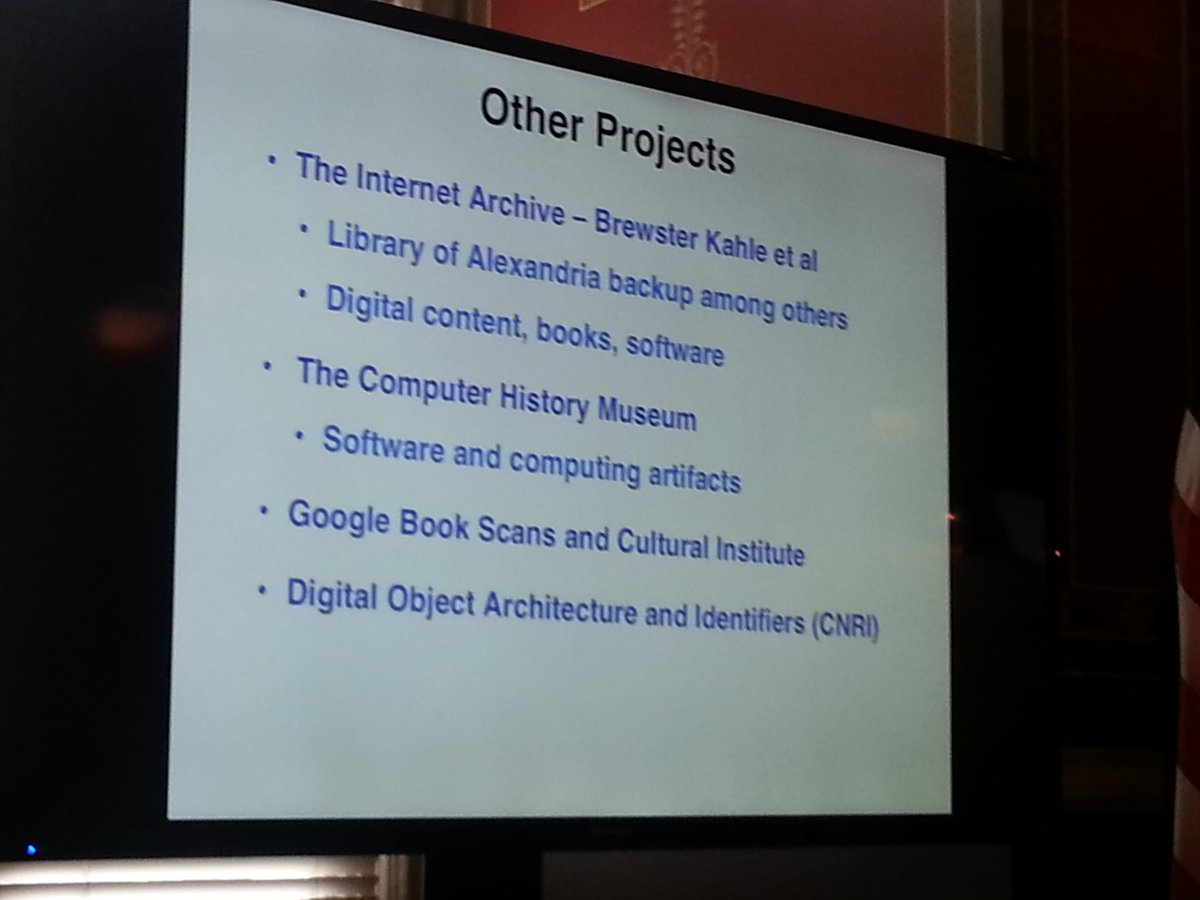 @vgcerf says we need multiple archives for saving the web - here are someof them #savetheweb https://t.co/UwxYQROvp7