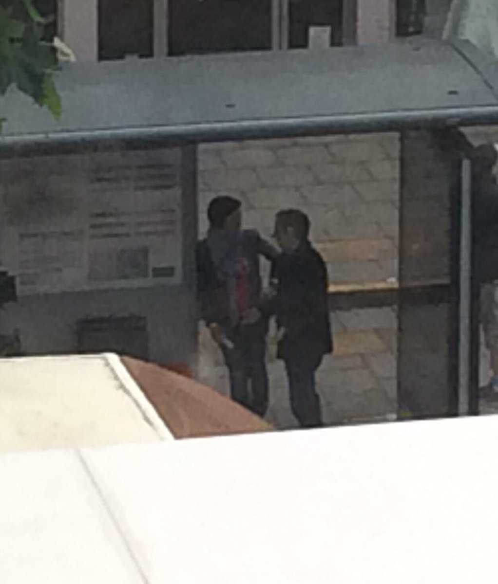 Blurry photo of Martin Freeman possibly filming Sherlock outside of @OasisCollege for anyone asking. https://t.co/60NsmoWTUi