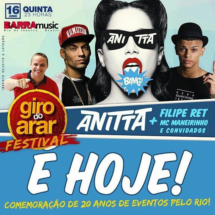 #GiroDoArarFestival @barra_music @Anitta @FilipeRet @mc_maneirinho  Rádio Oficial @radiofmodia Apoio @FmODiaOnLine https://t.co/xutp1o7SKt