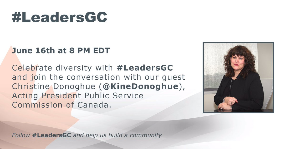 Join #LeadersGC and @KineDonoghue  TONIGHT at 8PM EST to discuss Diversity. https://t.co/GcOrZyCcUn