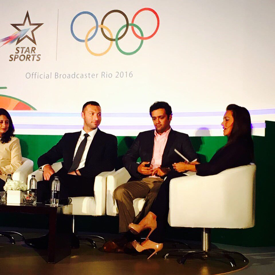 Looking forward to presenting  the @Rio2016_en to all of you ! @StarSportsIndia @paulamalaiali @IanThorpe https://t.co/kX3lFfBk18