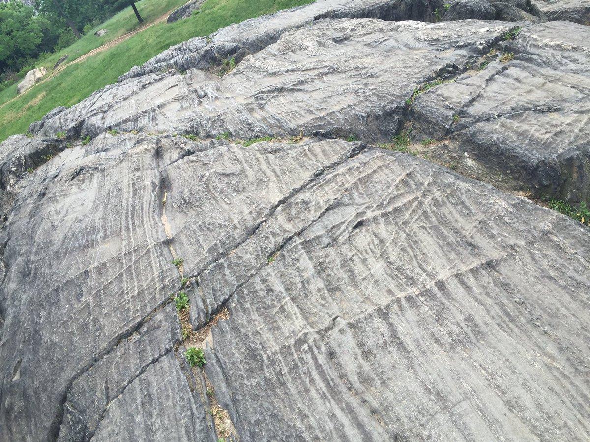 Image result for central park glacial striations