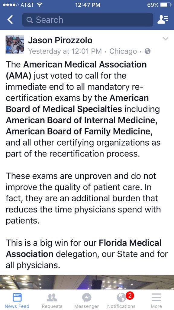 Amazing news on #MOC with far-reaching implications for all practicing physicians. Indictments seem inevitable. https://t.co/VxdnkzkSvW