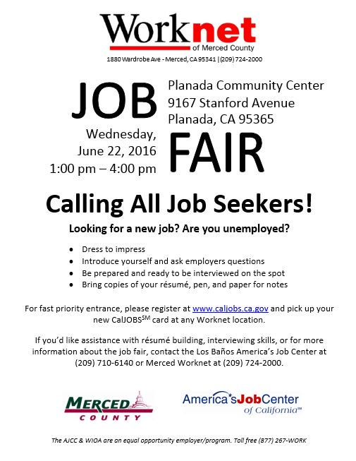 edd on twitter merced co worknet job fair on 6 22 dress to