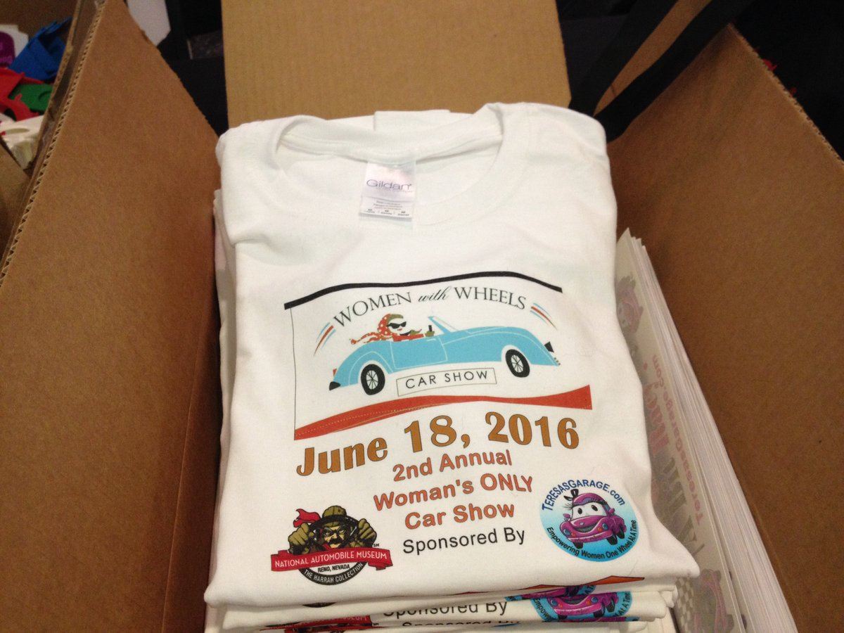 Teresa Aquila On Twitter Working On Women With Wheels Car Show - Car show t shirts for sale