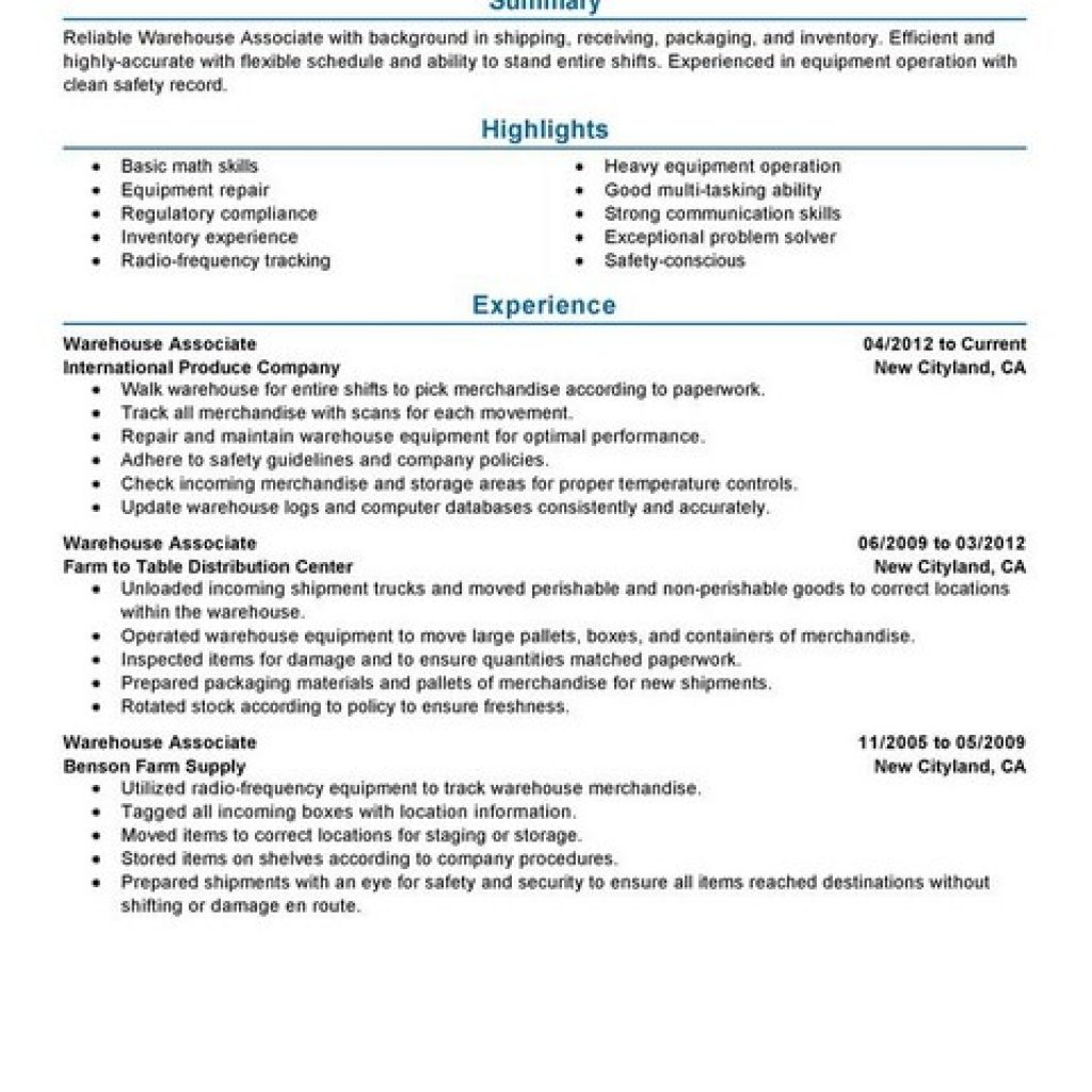 Sample Resume For Warehouse Manager. 11 Warehouse Supervisor Roles ...  Resume For Warehouse Manager
