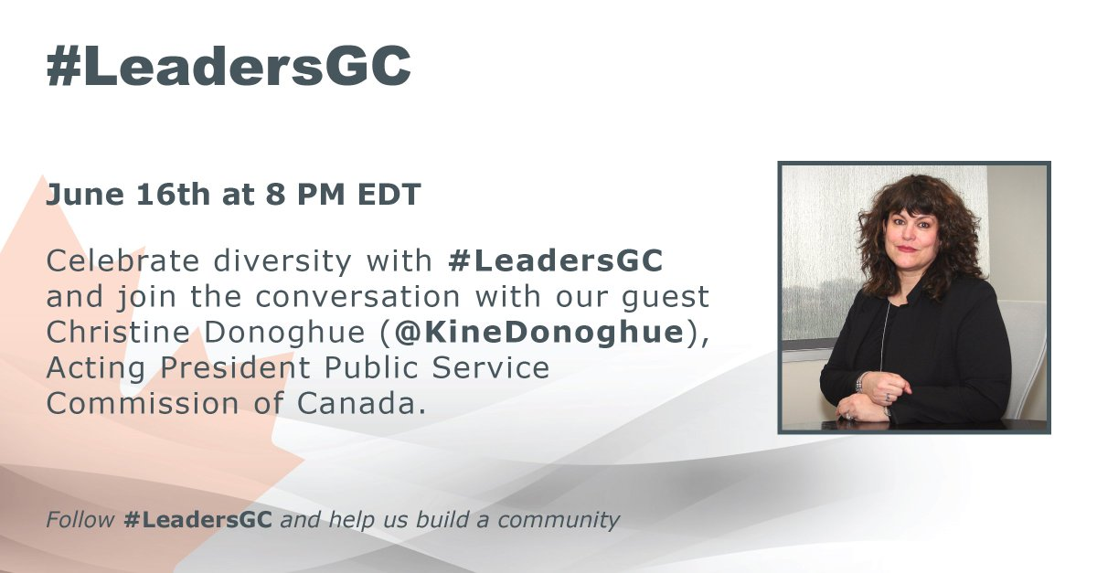 Don't forget to join @KineDonoghue tonight at 8 pm for the #LeadersGC chat on #diversity. https://t.co/t7LzDWU3wH