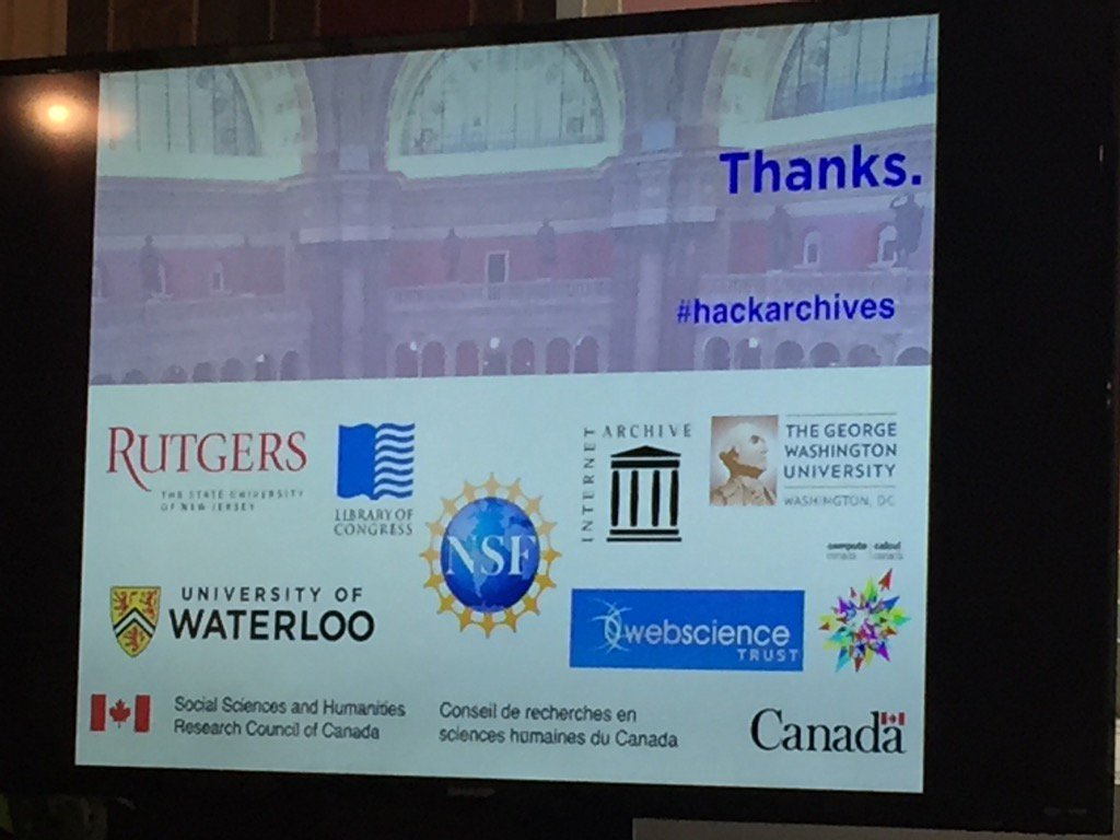 Proud that @websciencetrust helped to sponsor #hackarchives at #SaveTheWeb https://t.co/uyvyAURAWA