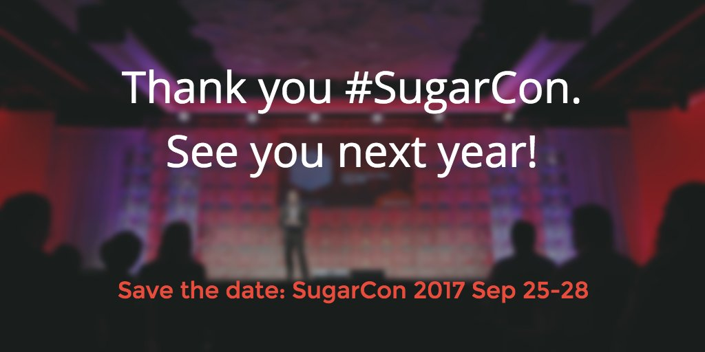 Thank you for attending another great #SugarCon! We look forward to seeing you next year! https://t.co/jXY5uvcPtq