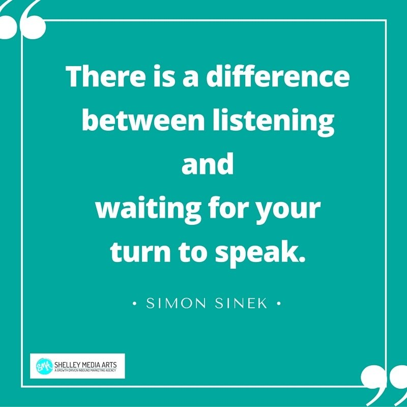 """Image result for """"There is a difference between listening and waiting for your turn to speak."""""""