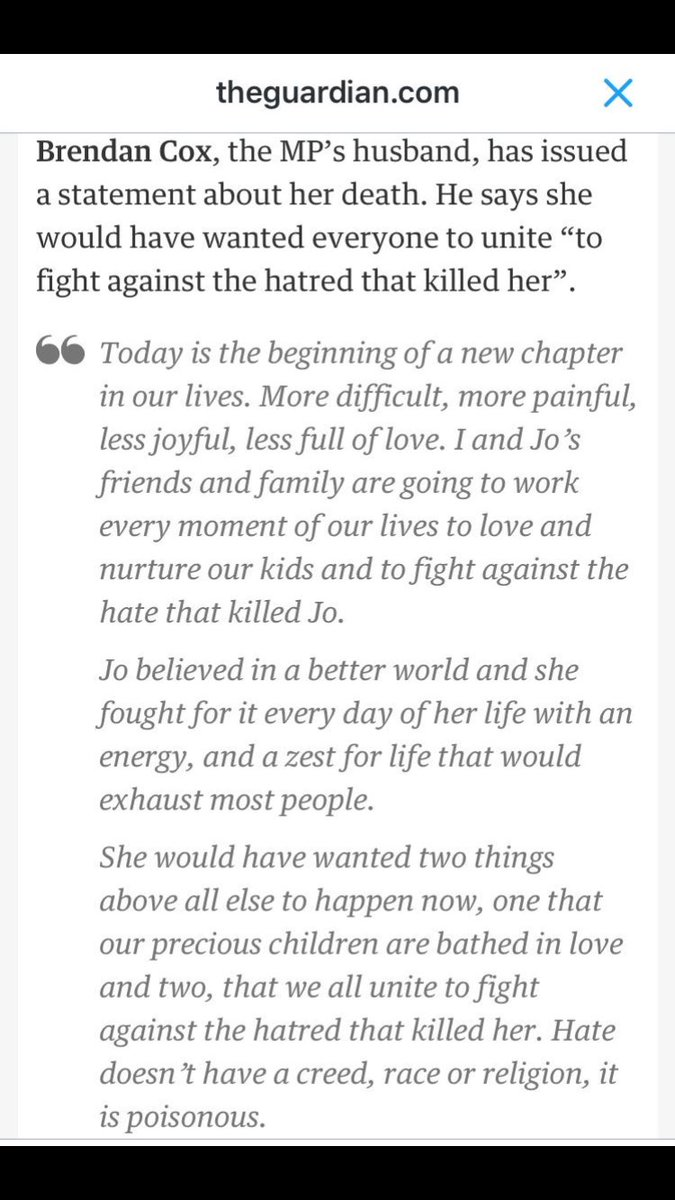 This from Jo's husband is heartbreaking. But what we must do. https://t.co/Nk5yAQREKi
