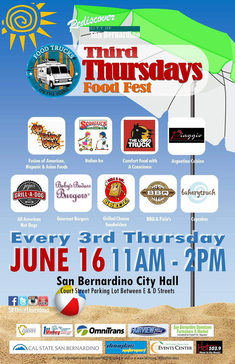 Come out for @SBThirdThursday from 11a-2p w/@piaggioonwheels @jojosgrilladog @TheLobosTruck +more! #RediscoverSB https://t.co/qNDm13nLRa