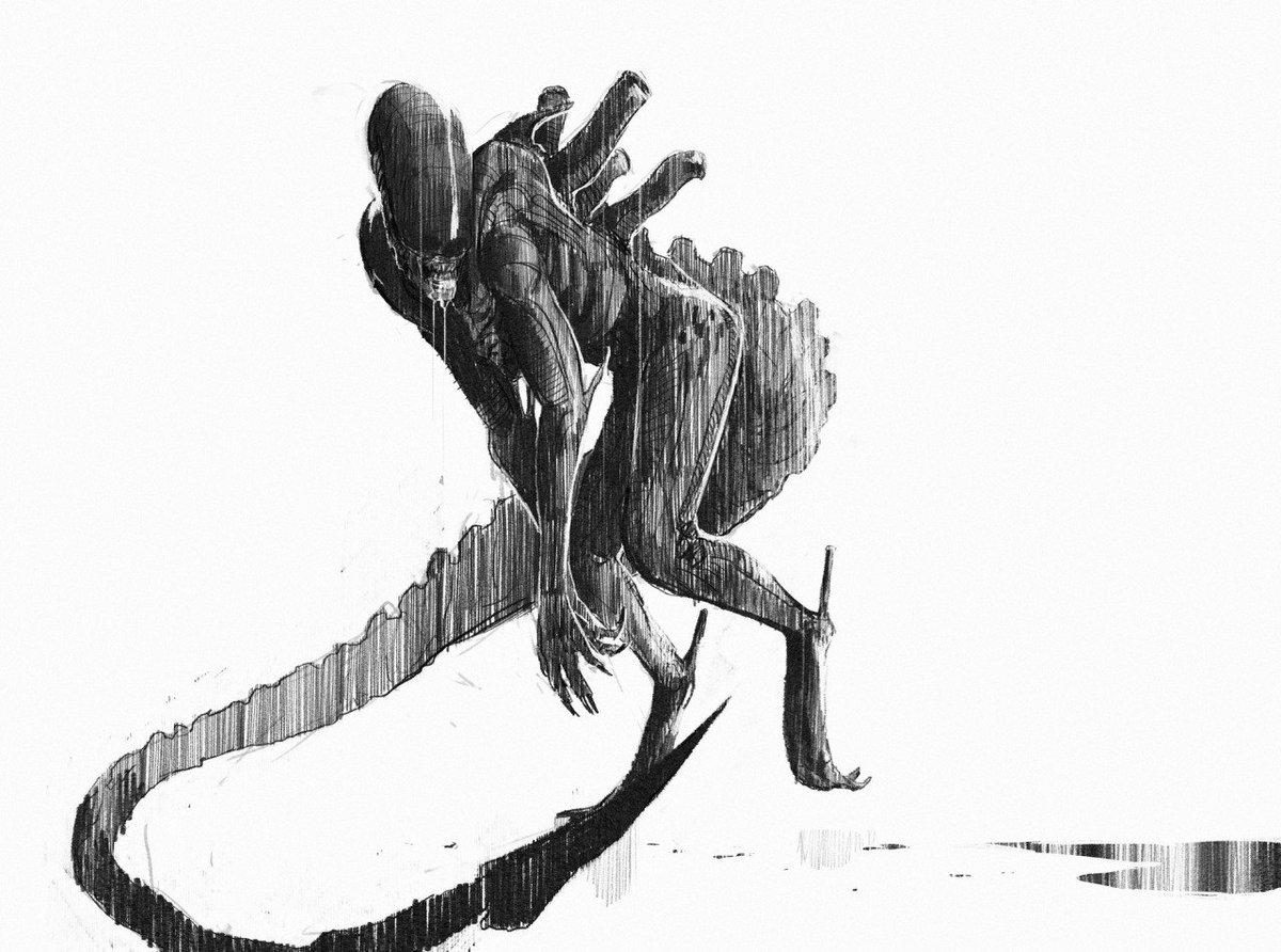 Concept Art Alien Sketches