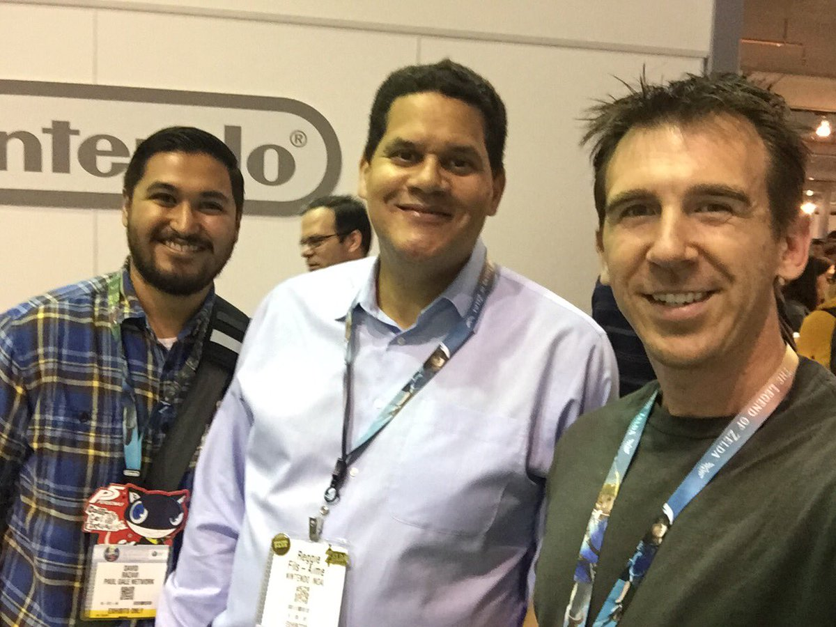 Nintendo of America president, Reggie Fils-Aime, with Paul Gale Network at E3 2016