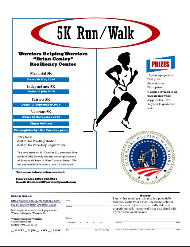 Celebrate Independence Day by supporting those who keep our country safe! Sign up for the Independence 5k TODAY #WHW