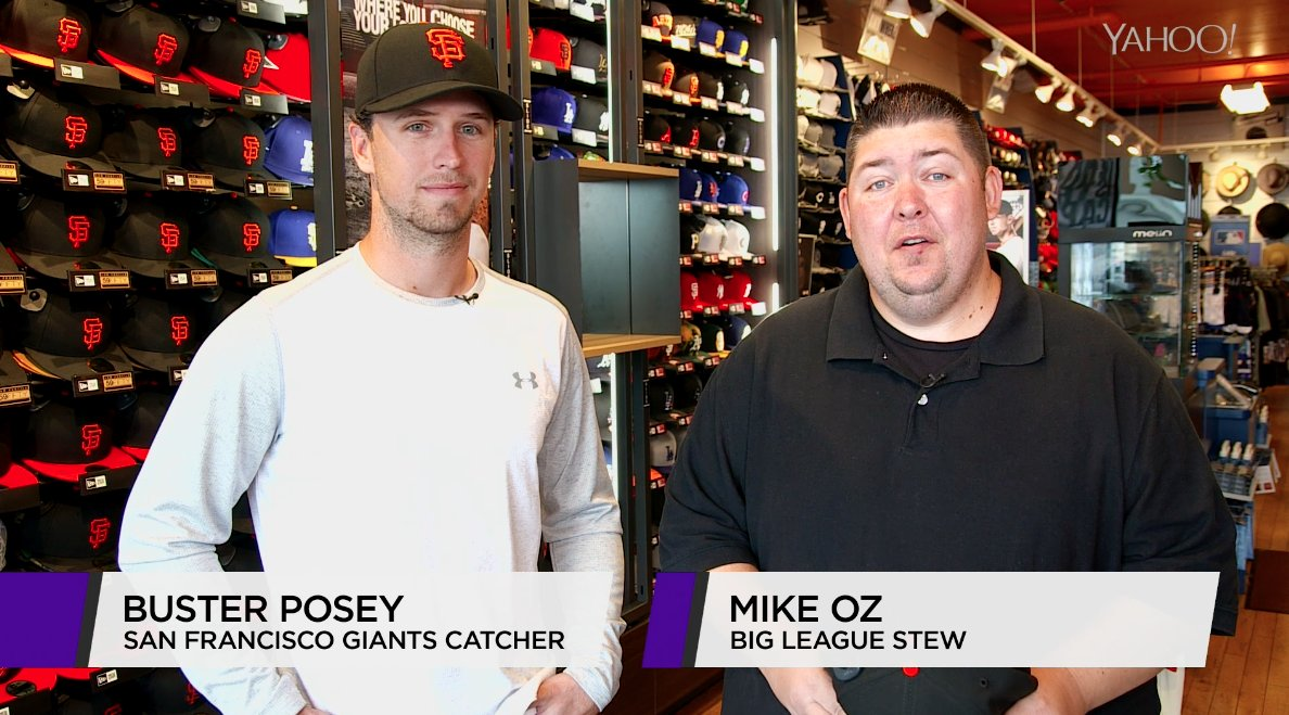 8e02a8678144d It s me    BusterPosey talking baseball cap rituals in this week s ep of  Open Mike  ...