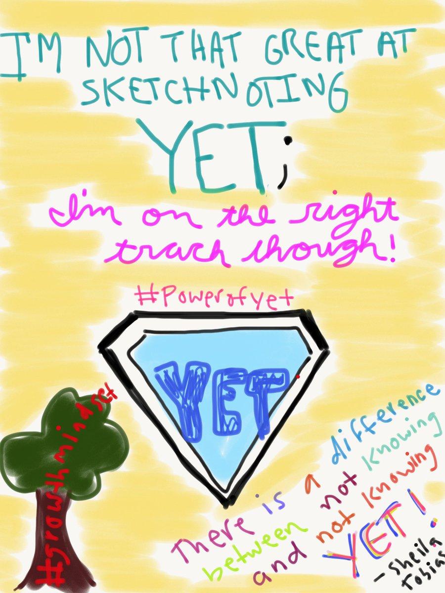 #ipersonalize #growthmindset #thepowerofyet #sketchnote https://t.co/1PiEfysSPa