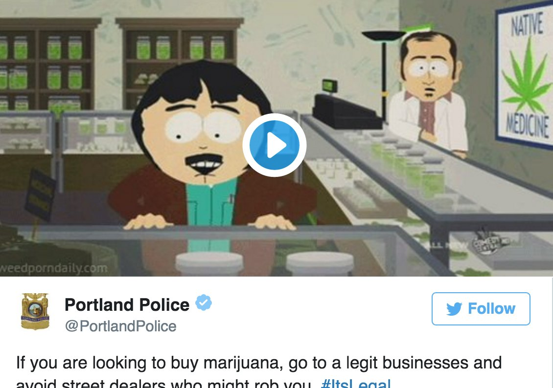 Yes, the Portland Police are Helping Citizens Find Their Weed