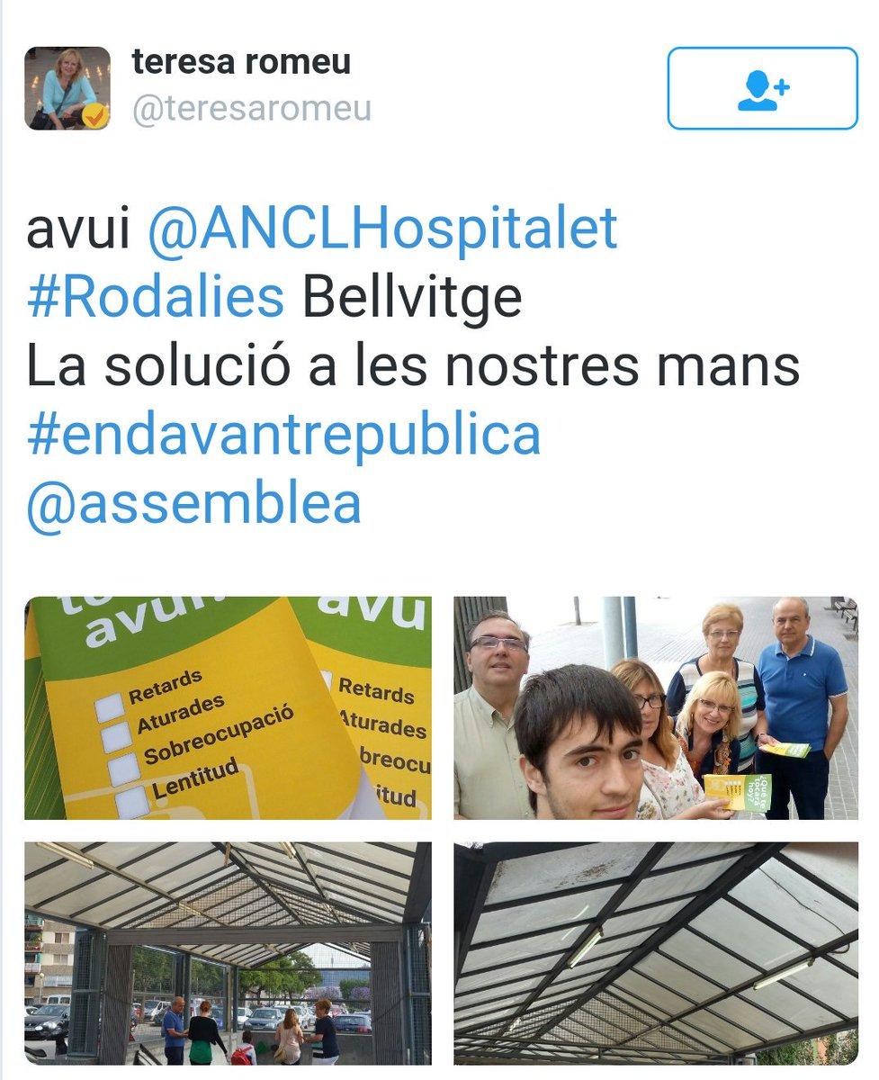 avui @ANCLHospitalet #Rodalies Bellvitge La solució a les nostres mans #endavantrepublica @assemblea