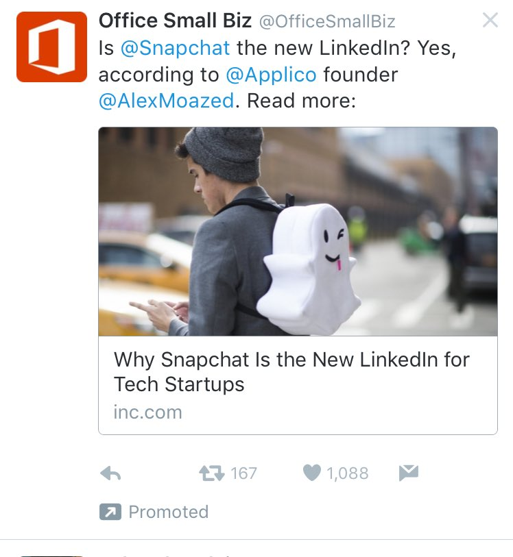 Let me see if I get this. Microsoft buys Twitter ads to tell us Snapchat is better than the company they bought. https://t.co/uc6eELRFDM