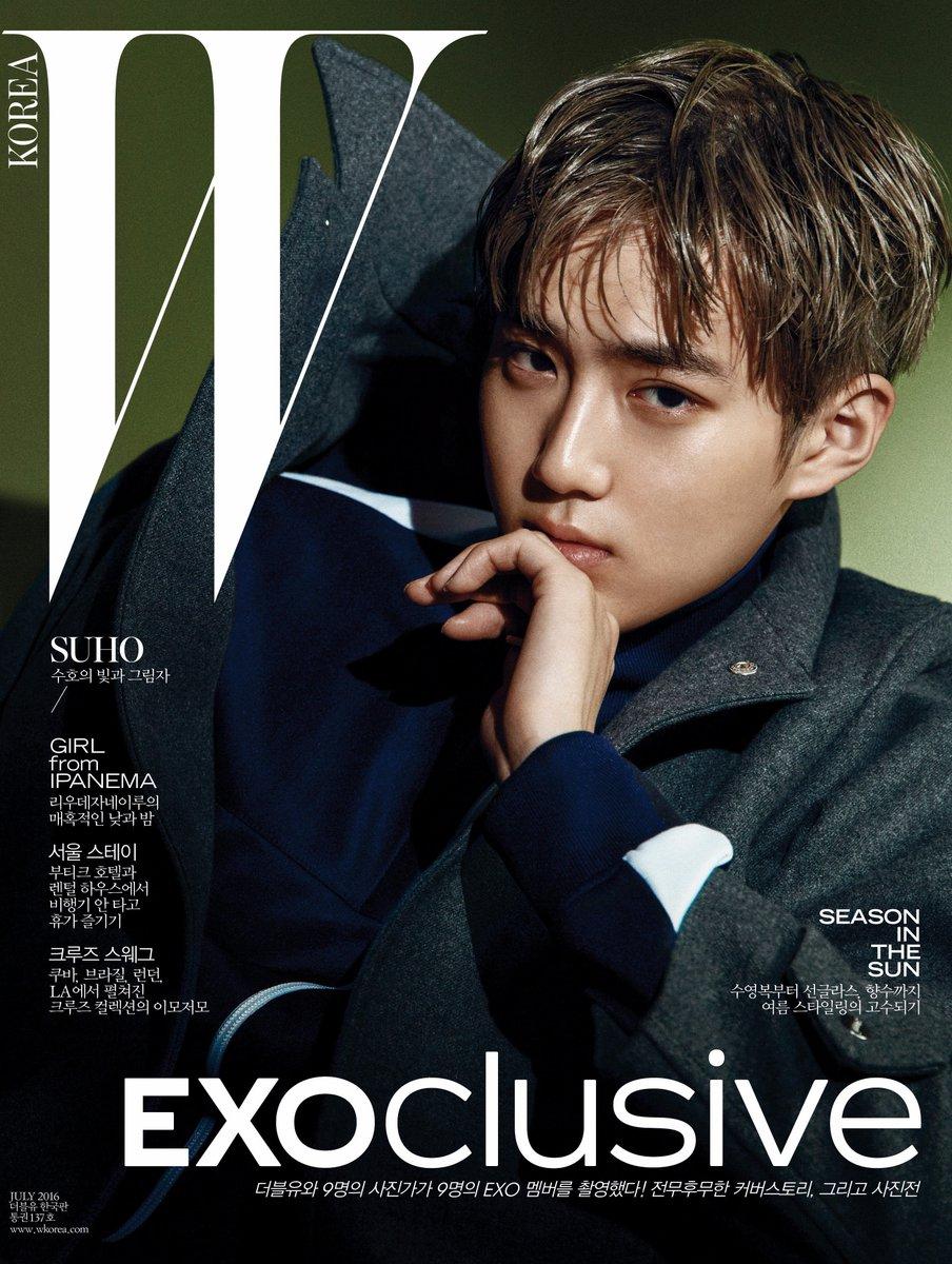 #EXOclusive Cover 5 #SUHO <W Korea>와 SM엔터테인먼트의 독점 콜라보레이션 프로젝트, #EXO 멤버 9종 커버 공개! 자세한 정보는 https://t.co/XJCMXskAFK